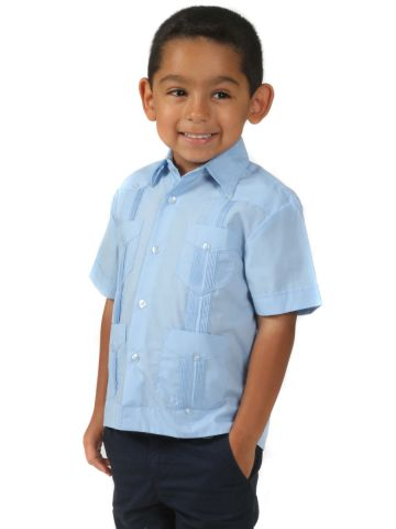 Kids Cotton Guayabera