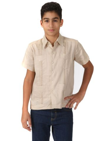 Boys Cotton Guayabera