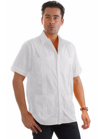 Short Sleeve Guayabera - Poly/cotton