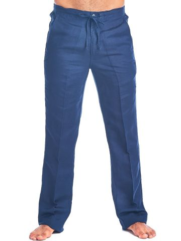 Men's Resort Casual Linen Drawstring  Pants