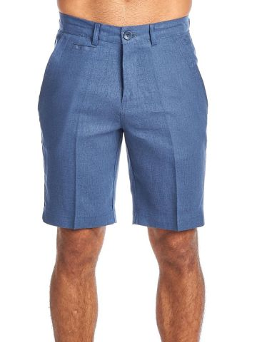 Men's Resort Lounge Casual Linen Flat front Dress Shorts