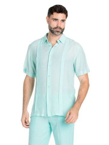 Men's Big & Tall Beachwear Pin Tuck Shirt